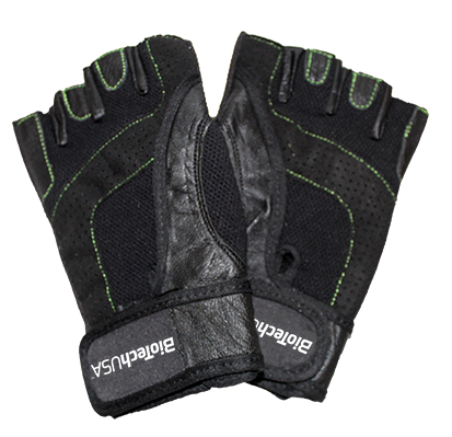 BioTech USA Black leather rukavice par