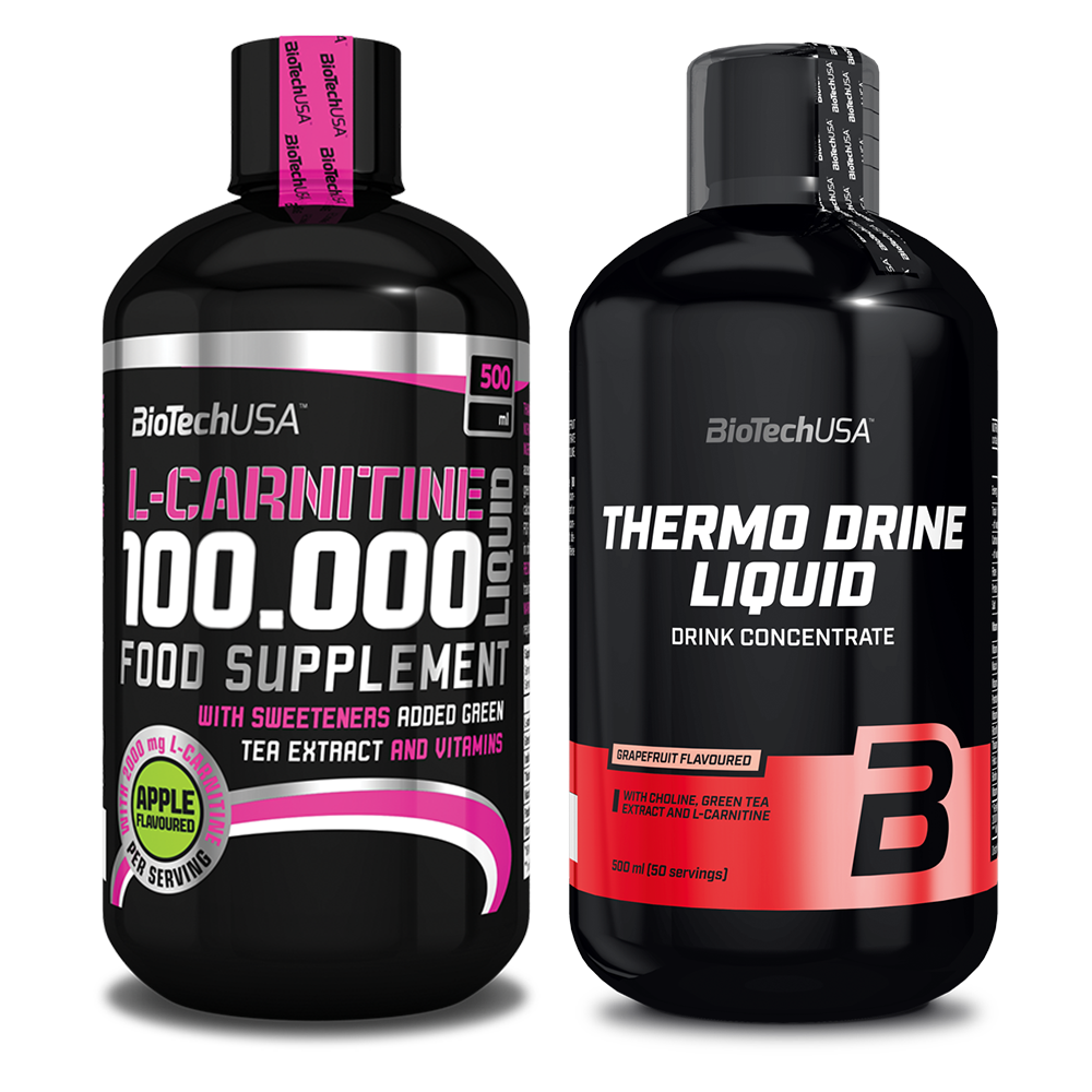 BioTech USA L-Carnitine 100.000 + Thermo Drine Liquid 0,5lit.+0,5lit.