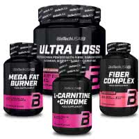 BioTech USA Ultra Loss + L-Carnitine + Mega Fat Burner + Fiber Complex (set)
