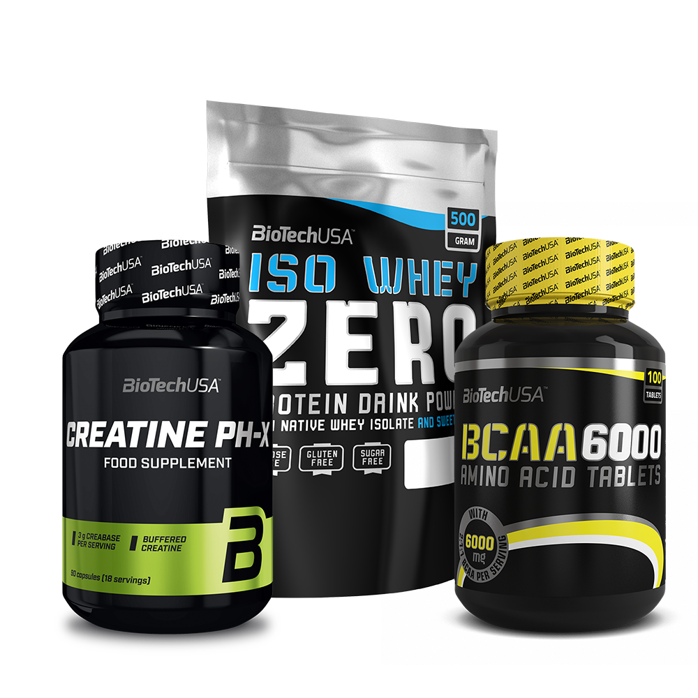 BioTech USA Iso Whey Zero + BCAA 6000 + Creatine PH-X set