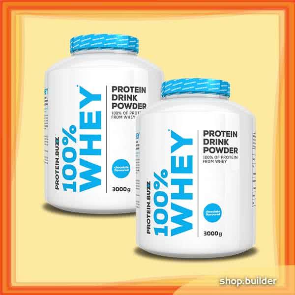 Protein Buzz 100% Whey 3kg+3kg 6 kg