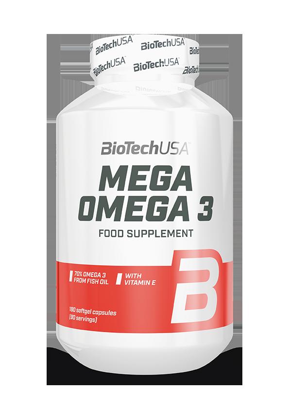 BioTech USA Mega Omega 3 180 kap.