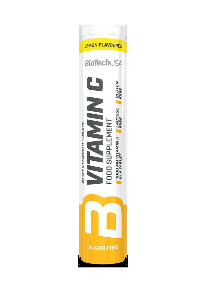 BioTech USA Vitamin C effervescent tablets  20 tab.