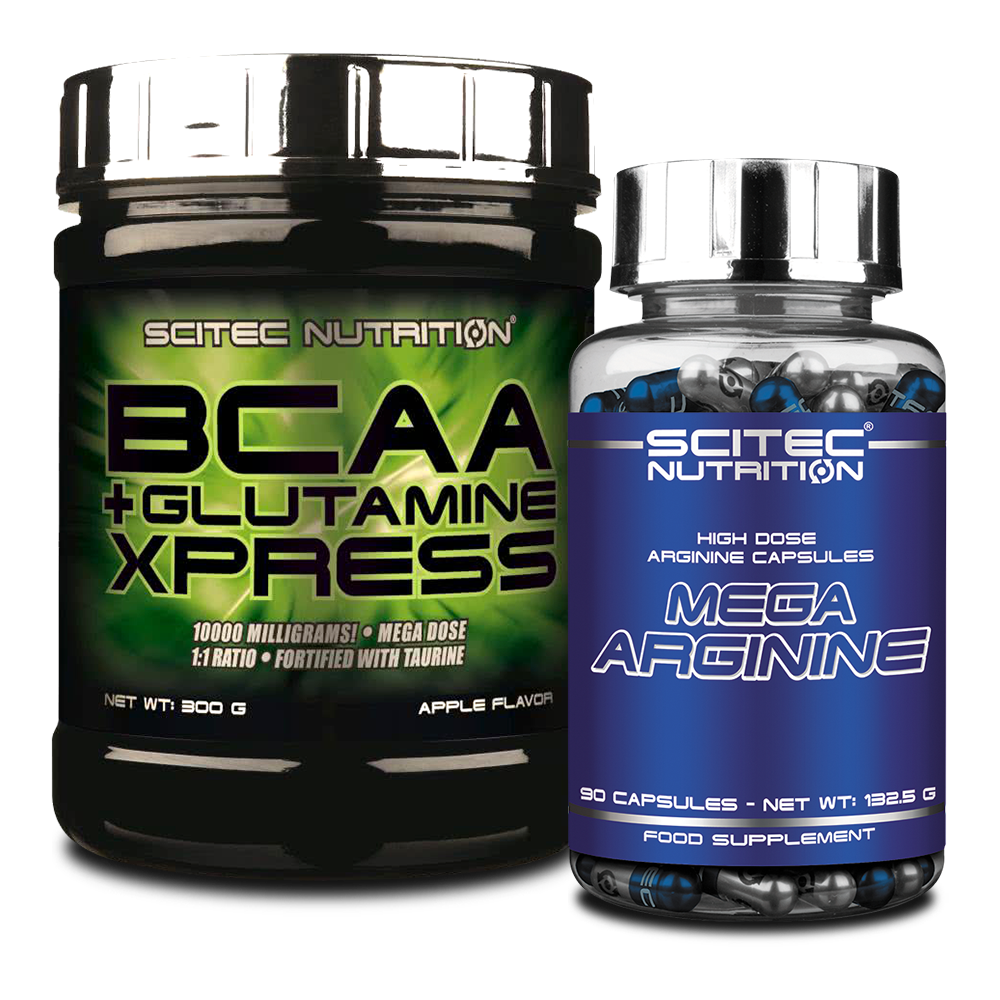 Scitec Nutrition BCAA + Glutamine Xpress + Mega Arginine set