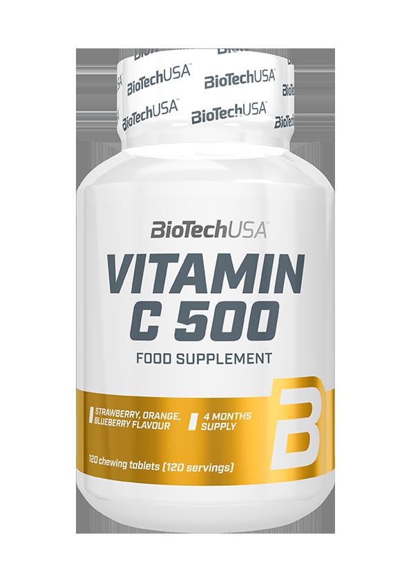 BioTech USA Vitamin C-500 Žvakaće tablete 120 r.t.